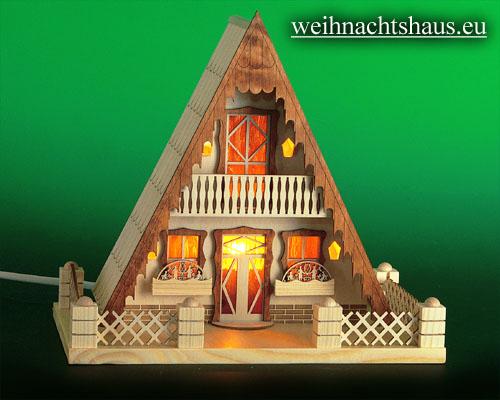 Seiffen Weihnachtshaus - Lichterhaus Finnhütte ohne Figuren - Bild 1
