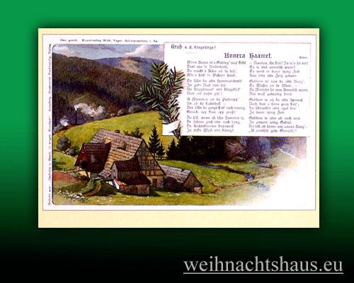 Liedpostkarten Postkarte Lieder Unsere Heimat