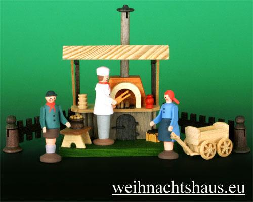 Seiffen Weihnachtshaus - Sommermarkt Grillstand 6 tlg - Bild 1