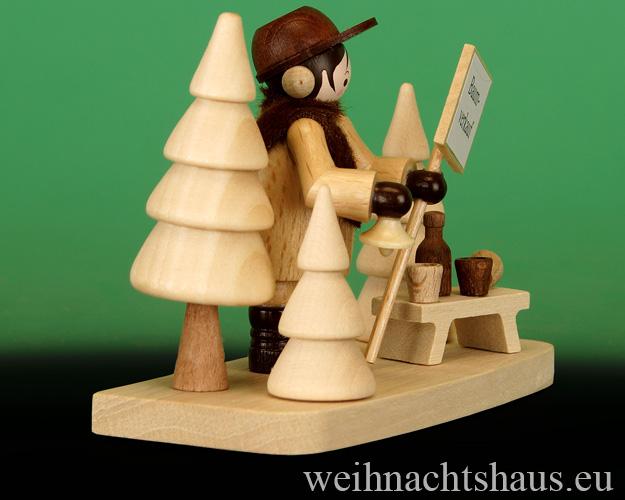Seiffen Weihnachtshaus - Erzgebirge Winterkinder natur Weihnachtsbaumverkäufer - Bild 2