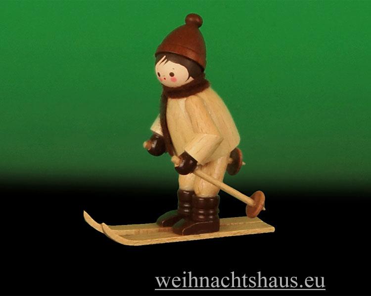 Seiffen Weihnachtshaus - Erzgebirge Winterkinder natur Abfahrtsläufer - Bild 2