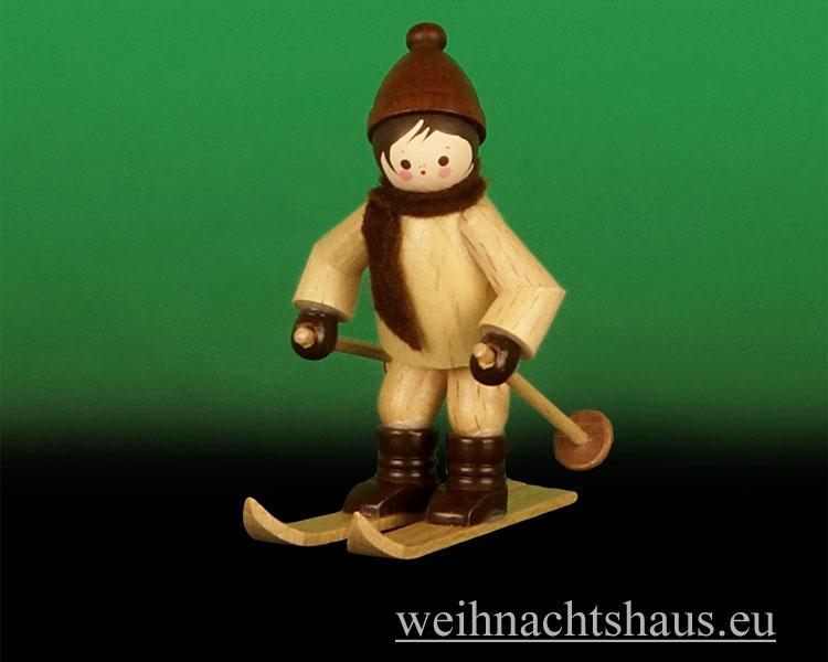Seiffen Weihnachtshaus - Erzgebirge Winterkinder natur Abfahrtsläufer - Bild 1