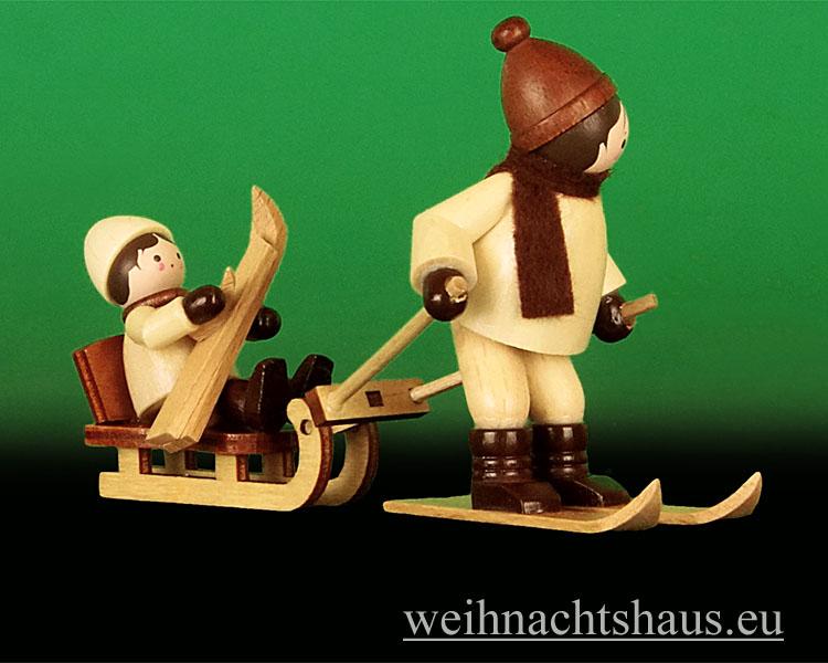 Seiffen Weihnachtshaus - Erzgebirge Winterkinder natur Bergrettung 2 teilig - Bild 2