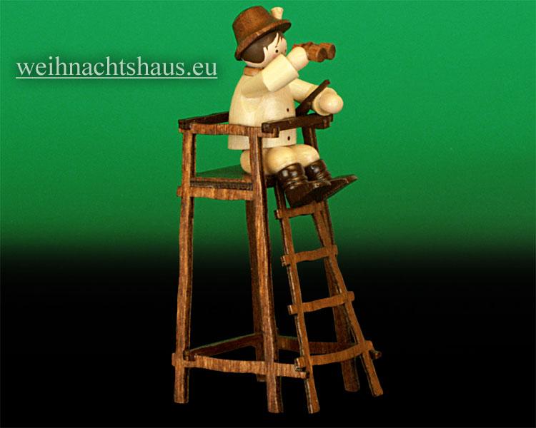 Seiffen Weihnachtshaus - Miniatur natur Jäger auf Hochstand - Bild 1