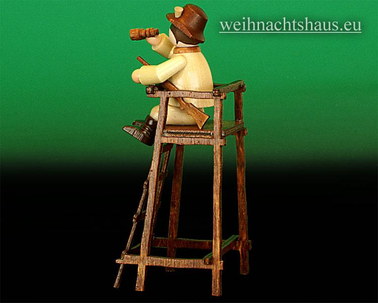Seiffen Weihnachtshaus - Miniatur natur Jäger auf Hochstand - Bild 2