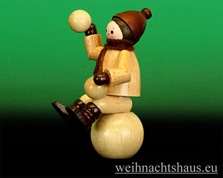 Seiffen Weihnachtshaus - Erzgebirge Winterkinder Winterkind auf Schneekugel - Bild 2