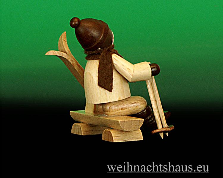 Seiffen Weihnachtshaus - Erzgebirge Winterkinder Winterkind auf Bank - Bild 2