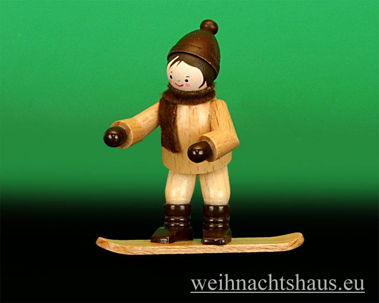 Seiffen Weihnachtshaus - Erzgebirge Winterkinder natur Snowboarder - Bild 1