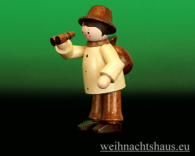 Figuren natur: miniatur natur wandersmann mit fernglas