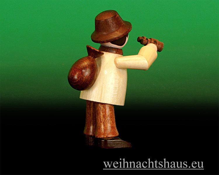 Seiffen Weihnachtshaus - Miniatur natur Wandersmann mit Fernglas - Bild 2