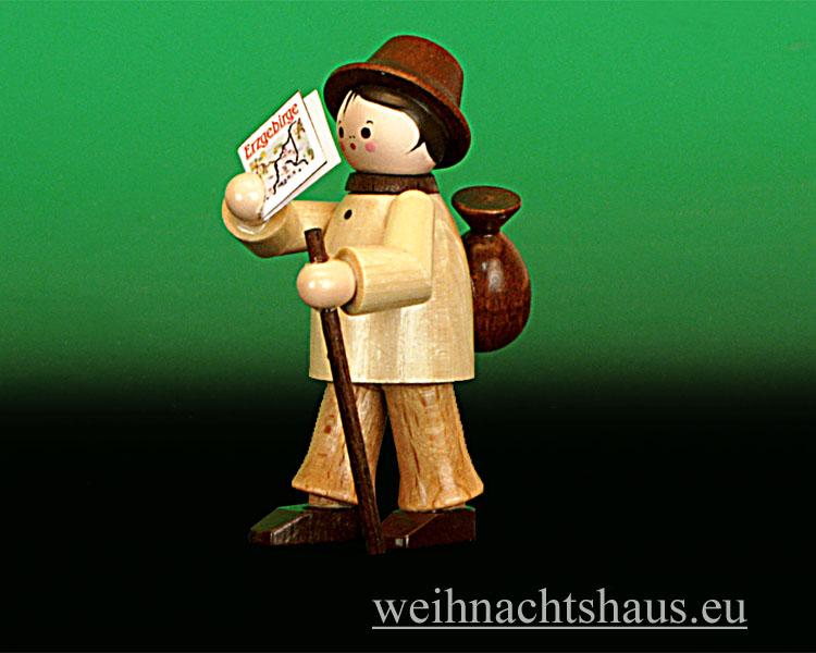 Seiffen Weihnachtshaus - Miniatur natur Wanderer stehend - Bild 1