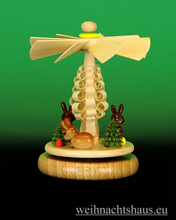 Seiffen Weihnachtshaus - Miniaturpyramide stehend Ostermotiv - Bild 1