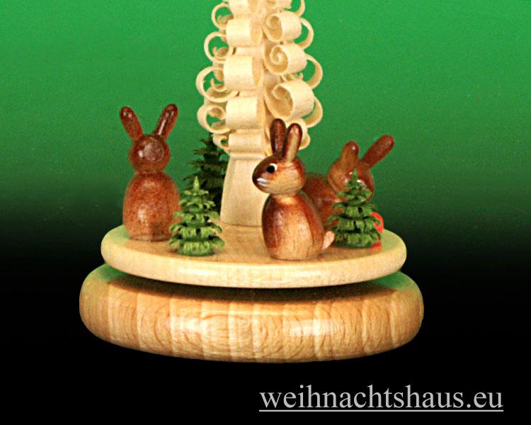 Seiffen Weihnachtshaus - Miniaturpyramide stehend Ostermotiv - Bild 2