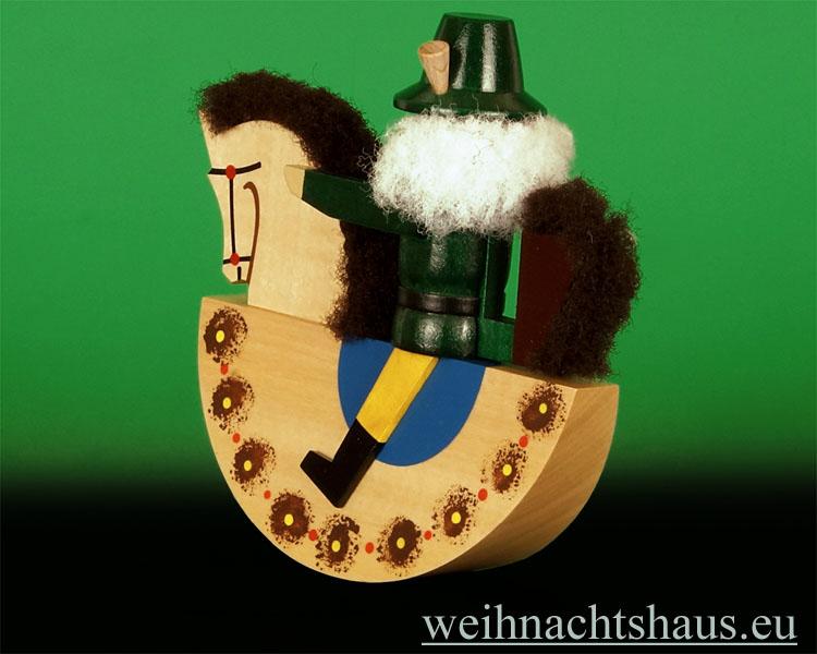 Seiffen Weihnachtshaus - Reiterlein Nußknacker Erzgebirge 14cm natur Pferd/ Jaeger, Foerster - Bild 2