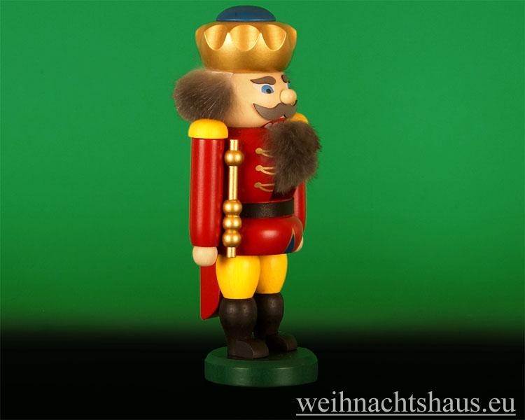 Seiffen Weihnachtshaus - Nußknacker 19cm  König  Erzgebirge - Bild 2