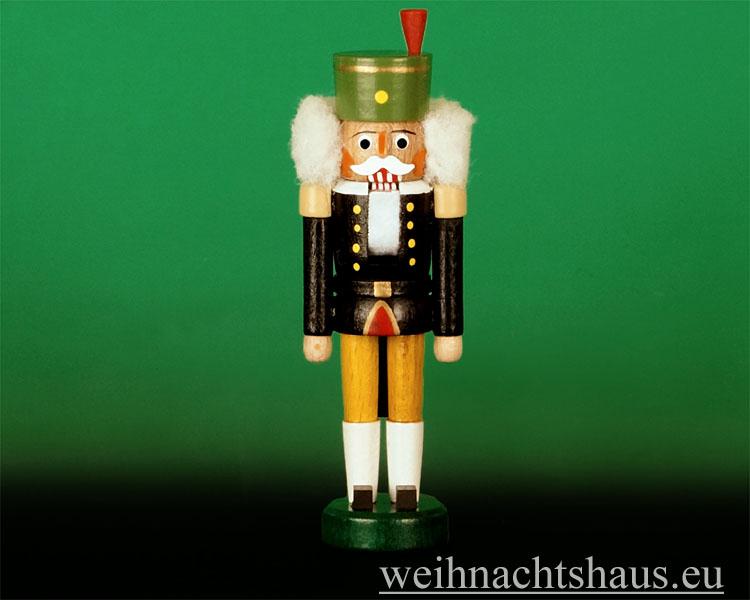 Seiffen Weihnachtshaus - Nußknacker - Erzgebirge 14cm farbig Bergmann - Bild 1