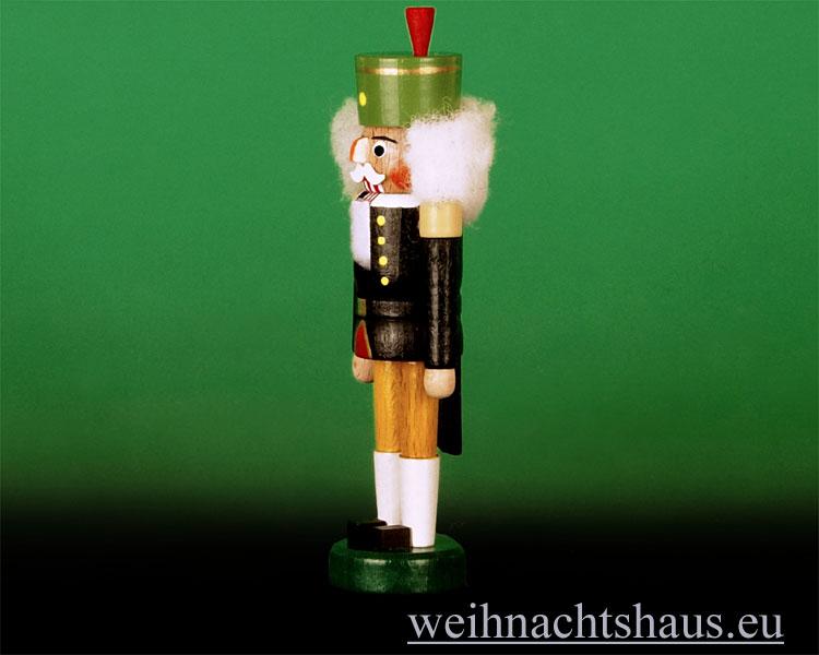 Seiffen Weihnachtshaus - Nußknacker - Erzgebirge 14cm farbig Bergmann - Bild 2