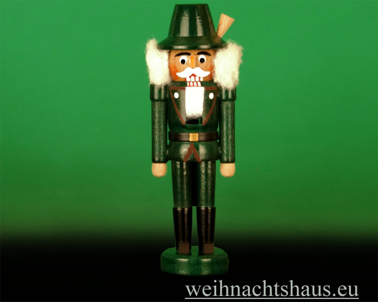 Seiffen Weihnachtshaus - Nußknacker 14cm farbig Förster - Bild 1