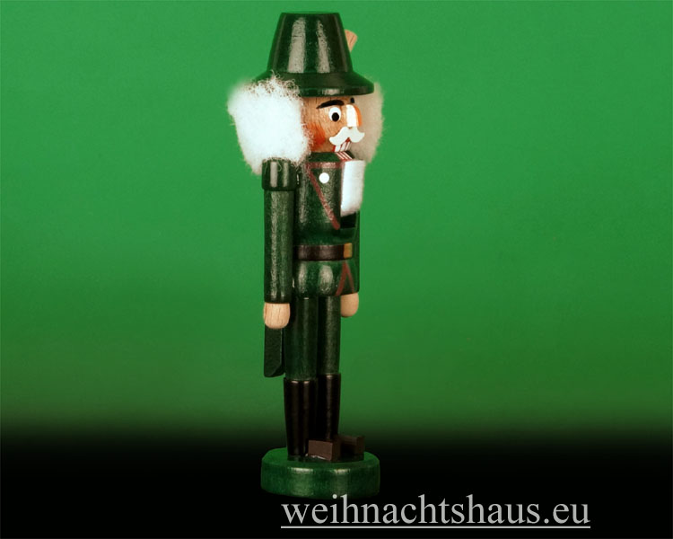 Seiffen Weihnachtshaus - Nußknacker 14cm farbig Förster - Bild 2