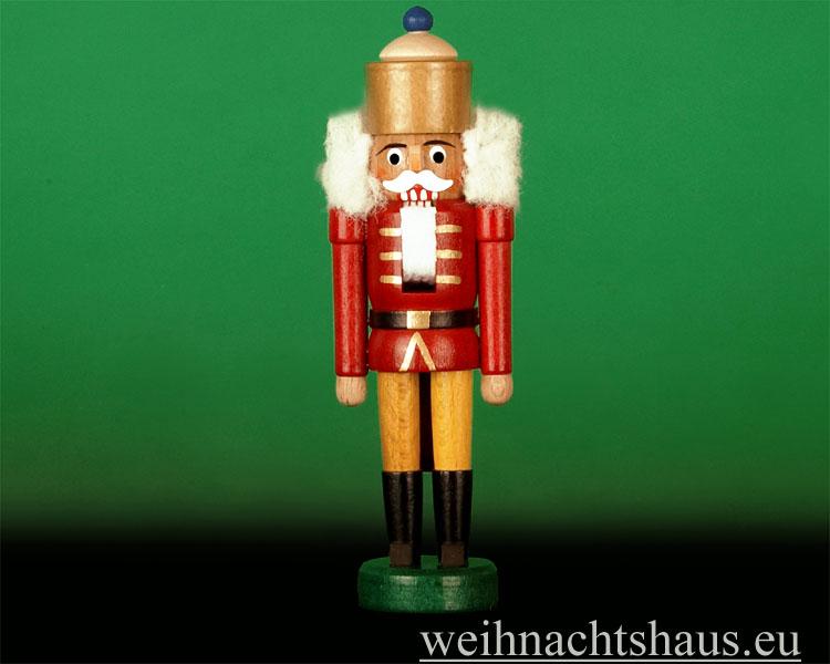 Seiffen Weihnachtshaus - Nußknacker - Erzgebirge 14cm Bergmann grau - Bild 1