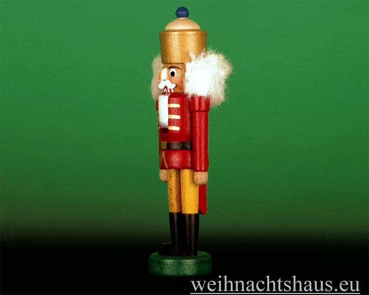 Seiffen Weihnachtshaus - Nußknacker - Erzgebirge 14cm Bergmann grau - Bild 2