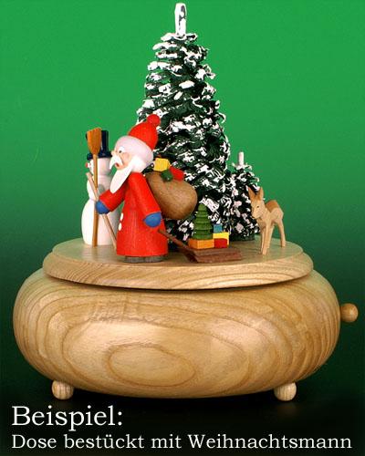 Seiffen Weihnachtshaus - Spieldose selber machen- leer  ohne Figuren 16cm Oh Tannenbaum - Bild 2