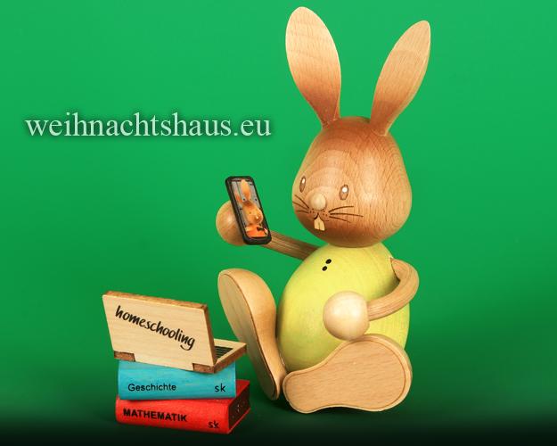 Seiffen Weihnachtshaus - Stupsi         Osterhase- Kuhnert  im Homeschooling Neu 2021 - Bild 1