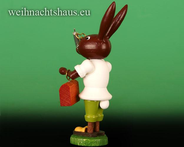 Seiffen Weihnachtshaus - Osterhase 10cm Hasendoktor - Bild 2