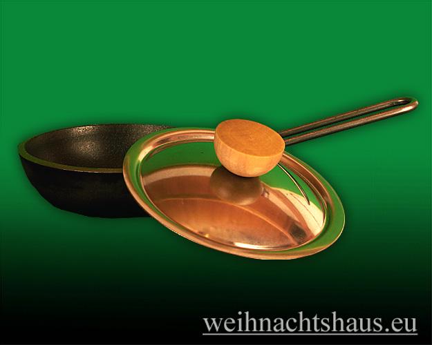 Seiffen Weihnachtshaus - Eisenpfanne mit Deckel für Räucherofen Huss - Bild 2