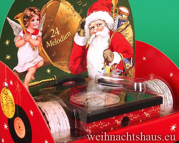 Seiffen Weihnachtshaus - Adventskalender nostalgischer Plattenspieler Weihnachtsmelodien - Bild 2