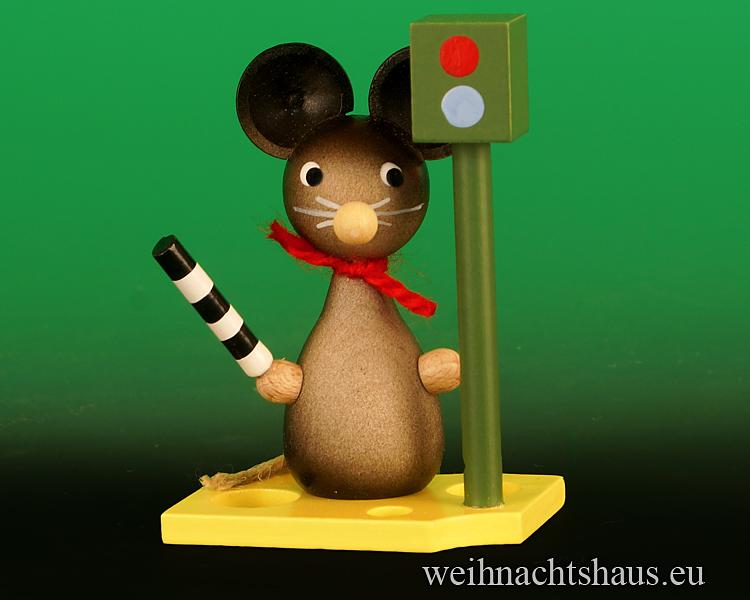 Seiffen Weihnachtshaus - Maus Polizei mit Blitzer / Polizeimaus - Bild 1