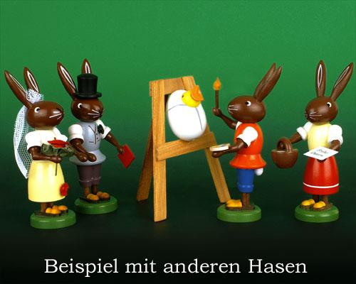Seiffen Weihnachtshaus - Osterhase 10cm Koch - Bild 3