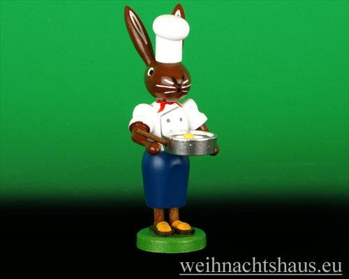 Seiffen Weihnachtshaus - Osterhase 10cm Koch - Bild 1