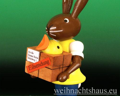 Osterhase Postbote Erzgebirge Osterpost Osterpaket Neuheit Osterdeko Osterfest Ostern Hasenpost Osterpost