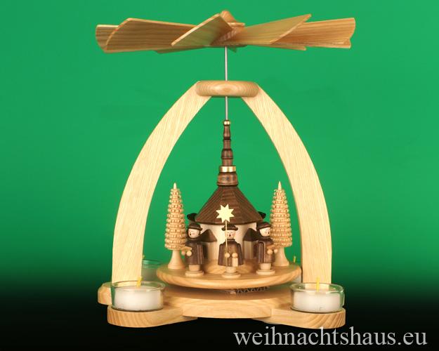Pyramiden Seiffen Kirche ! Seiffener Weihnachtspyramide ! Teelichtpyramide