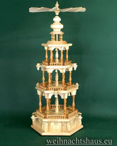 Seiffen Weihnachtshaus - 3 Stock Barockpyramide 112 cm ohne Figuren - Bild 1