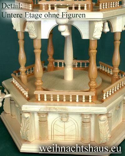 Seiffen Weihnachtshaus - 3 Stock Barockpyramide 112 cm ohne Figuren - Bild 2