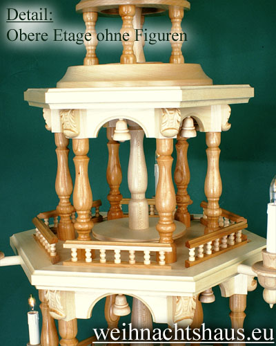 Seiffen Weihnachtshaus - 3 Stock Barockpyramide 112 cm ohne Figuren - Bild 3