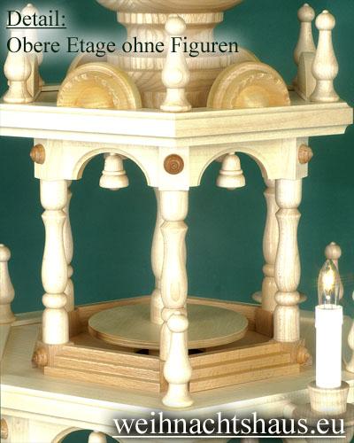 Seiffen Weihnachtshaus - 3 Stock Stufenpyramide 109 cm ohne Figuren - Bild 3