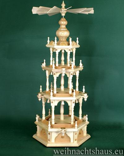 Seiffen Weihnachtshaus - 3 Stock Stufenpyramide 109 cm ohne Figuren - Bild 1