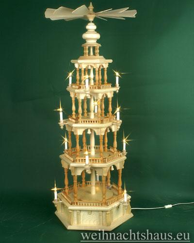 Seiffen Weihnachtshaus - 4 Stock Barockpyramide 139 cm ohne Figuren - Bild 1