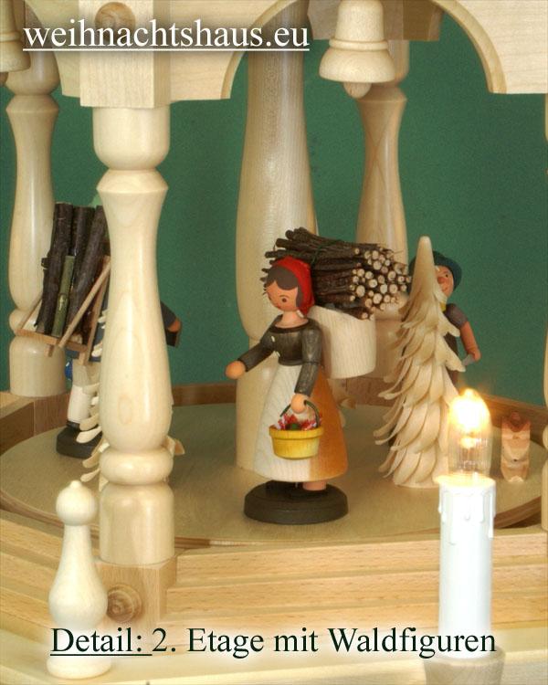Seiffen Weihnachtshaus - 4 Stock Stufenpyramide 136 cm mit Erzgebirgsfiguren - Bild 3