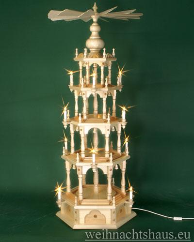 Seiffen Weihnachtshaus - 4 Stock Stufenpyramide 136 cm ohne Figuren - Bild 1