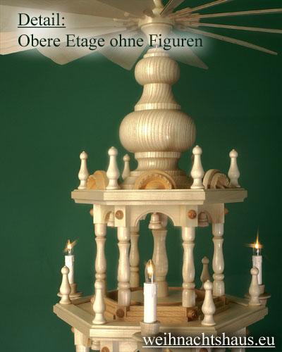 Seiffen Weihnachtshaus - 4 Stock Stufenpyramide 136 cm ohne Figuren - Bild 3