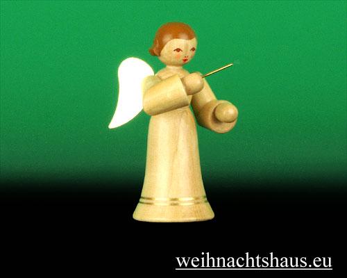 Seiffen Weihnachtshaus - Musikantenengel natur Dirigent - Bild 1