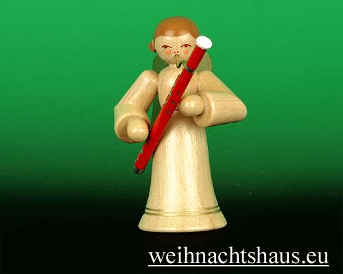 Seiffen Weihnachtshaus - Musikantenengel natur Fagott - Bild 1