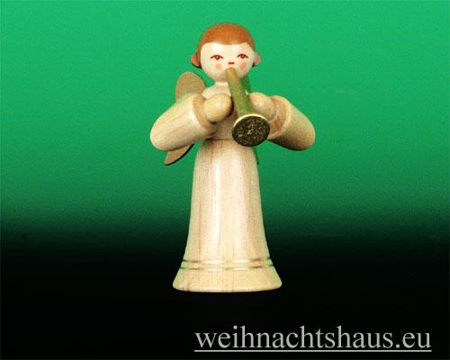 Seiffen Weihnachtshaus - Musikantenengel natur Fanfare - Bild 1