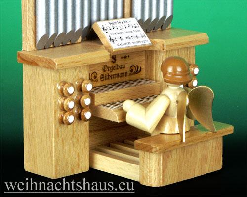 Seiffen Weihnachtshaus - Musikantenengel natur Orgel - Bild 2