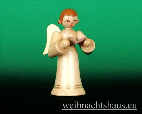 Seiffen Weihnachtshaus - Musikantenengel natur Sänger - Bild 1