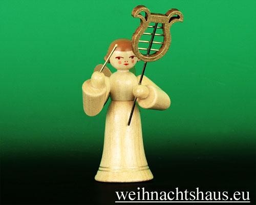 Seiffen Weihnachtshaus - Musikantenengel natur Schellenbaum - Bild 1